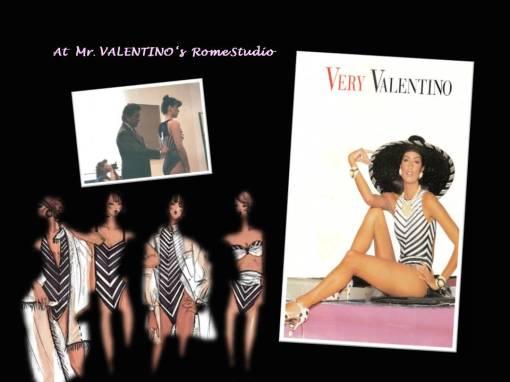 אני פרידמן מעצבת בגדי ים לולנטינו עיצוב קולקצייה עבור המעצב VALENTINO איטליה והופעה ב- VOGUE האיטלקי
